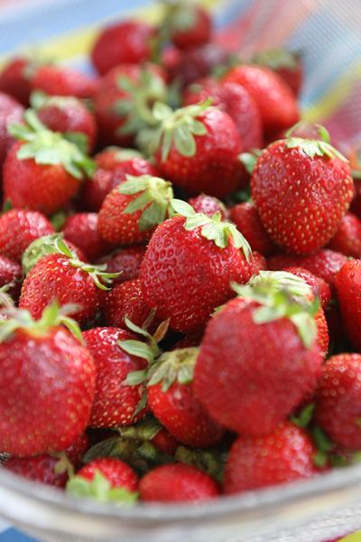 συνταγή γλυκό με φράουλες