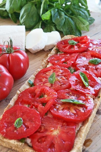 συνταγή τάρτα με ντομάτες